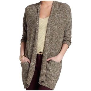 Anthropologie Sweaters - Anthropologie | Sparrow Olive Green Open Cardigan